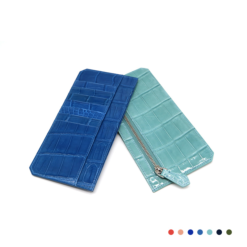 Croco Long Wallets