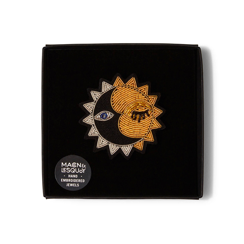 M&L Friendly Sun brooch (Medium)