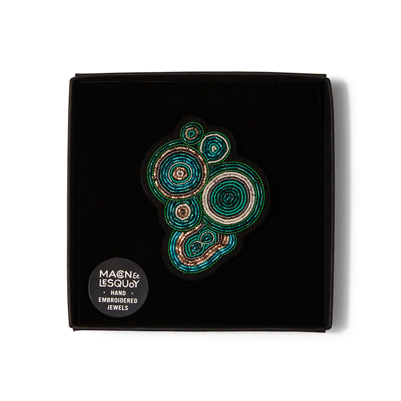 M&L Malachite brooch